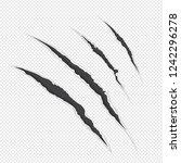 raster illustration claw... | Shutterstock . vector #1242296278