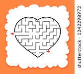 abstract maze heart. valentine... | Shutterstock .eps vector #1242298972