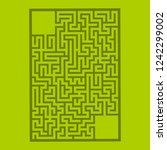 abstract rectangular maze. game ...   Shutterstock .eps vector #1242299002