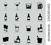 drink alcohol beverage icons set | Shutterstock .eps vector #1242301402