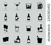 drink alcohol beverage icons set | Shutterstock .eps vector #1242301402