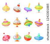 top toy vector kids whirligig...   Shutterstock .eps vector #1242301885