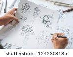 animator designer development... | Shutterstock . vector #1242308185