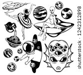 vector set of hand drawn...   Shutterstock .eps vector #1242312898