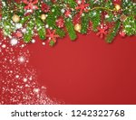 christmas decoration background ... | Shutterstock . vector #1242322768