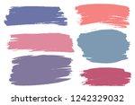 vector set of hand drawn brush... | Shutterstock .eps vector #1242329032