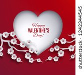 valentine's day holiday concept ... | Shutterstock .eps vector #1242344545