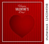valentine's day greeting design.... | Shutterstock .eps vector #1242344548