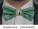 flag of washington on bowtie...   Shutterstock . vector #1242346645
