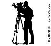 Cameraman With Video Camera....