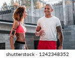 pleasant workout. delighted... | Shutterstock . vector #1242348352