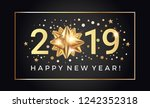happy new year 2019 greeting... | Shutterstock .eps vector #1242352318
