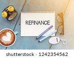 business concept. top view... | Shutterstock . vector #1242354562