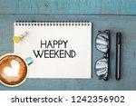 business concept. top view... | Shutterstock . vector #1242356902