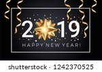 happy new year 2019 greeting... | Shutterstock .eps vector #1242370525