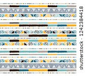 hand drawn stripe seamless with ... | Shutterstock .eps vector #1242384418