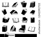 books set. vector | Shutterstock .eps vector #1242392722