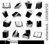 books set. vector | Shutterstock .eps vector #1242392722