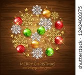 merry christmas happy new year... | Shutterstock .eps vector #1242400375