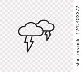 outline thunderstorm icon.... | Shutterstock .eps vector #1242403372
