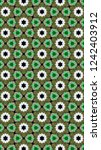 artful geometric pattern and... | Shutterstock . vector #1242403912