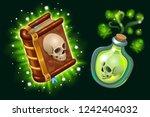 isometric book of magic spells...   Shutterstock .eps vector #1242404032
