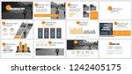 business presentation slides... | Shutterstock .eps vector #1242405175