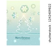 christmas card with tree and... | Shutterstock .eps vector #1242409822
