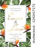 wedding event invitation rsvp... | Shutterstock .eps vector #1242417172