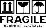 sticker  fragile   handle with... | Shutterstock .eps vector #1242418162