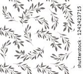 seamless floral pattern with... | Shutterstock .eps vector #1242423715