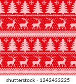 winter festive christmas... | Shutterstock .eps vector #1242433225