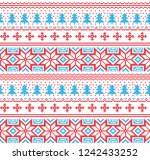 winter festive christmas... | Shutterstock .eps vector #1242433252