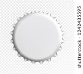 realistic white bottle cap.... | Shutterstock .eps vector #1242435595