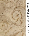 swirled mashed potatoes ready... | Shutterstock . vector #1242442822