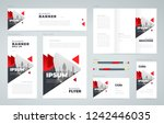 abstract triangles theme set... | Shutterstock .eps vector #1242446035