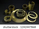 beautiful oriental gold jewelry ... | Shutterstock . vector #1242447868