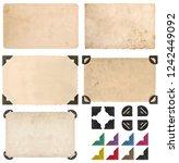 used paper cardboard photo...   Shutterstock . vector #1242449092