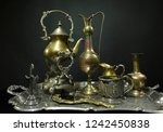 antique service. antiques on an ... | Shutterstock . vector #1242450838