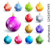 set of beautiful colorful... | Shutterstock . vector #1242457495