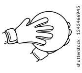 goalkeeper. goalie gloves and...   Shutterstock .eps vector #1242466945