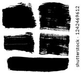 grunge hand drawn paint brush.... | Shutterstock .eps vector #1242469612