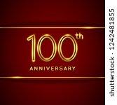 100   one hundred years...   Shutterstock .eps vector #1242481855