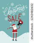 christmas sale banner. santa... | Shutterstock .eps vector #1242482632