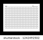 10x21squared manuscript paper....   Shutterstock .eps vector #1242492502
