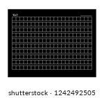 10x21 squared manuscript paper. ... | Shutterstock .eps vector #1242492505