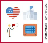 4 government icon. vector... | Shutterstock .eps vector #1242492622
