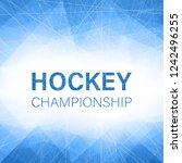 hockey championship blue... | Shutterstock .eps vector #1242496255