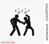 dancing vector icon.... | Shutterstock .eps vector #1242497935