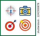 4 aiming icon. vector... | Shutterstock .eps vector #1242500878